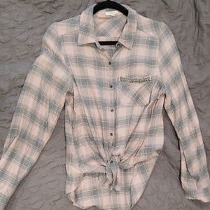 Maurices Plaid Button Down